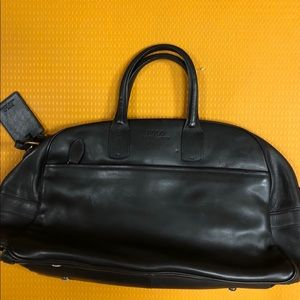 1fa5286bb000 Bags - Polo Ralph Lauren Black Leather Duffel Bag
